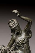 Albert Ernest Carrier-Belleuse (1824-1887) « L'été » Groupe en bronze à patine...